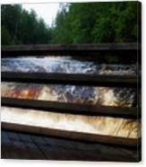 Handrails Tahquamenon Lower Falls Upper Peninsula Michigan 02 Canvas Print