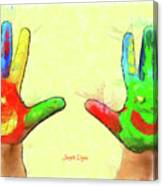 Hands In Art Canvas Print