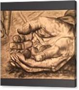 Hands Of Poverty Canvas Print