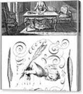 Handwriting, 18th Century Canvas Print