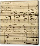 Handwritten Score For Hjertets Melodier, Opus 5 Canvas Print