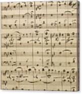 Handwritten Score Canvas Print