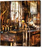 Handyman - Messy Workbench Canvas Print