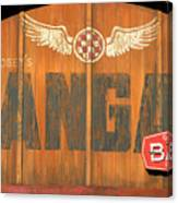 Hangar Bar Entrance Sign Canvas Print