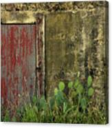 Hanging By A Hinge Canvas Print