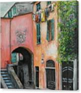Hanging Out in Monterosso al Mare Canvas Print