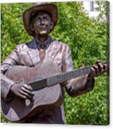Hank Williams Statue - Cropped Canvas Print