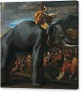 Hannibal Crossing The Alps On Elephants By Nicolas Poussin, 1625-1626. Canvas Print