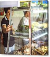 Hanoi, Vietnam  Vietnamese Street Food Seller Li Canvas Print