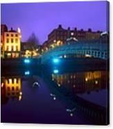 Hapenny Bridge, Dublin, Ireland Canvas Print