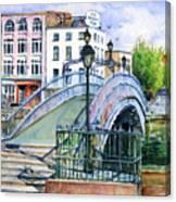 Ha'penny Bridge Dublin Canvas Print