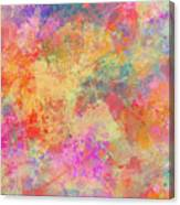 Happiness Abstract Painting Canvas Print