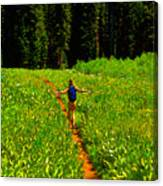 Happiness Is A Trail Canvas Print