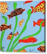 Happy Aquarium Canvas Print