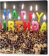 Happy Birthday Candles Canvas Print