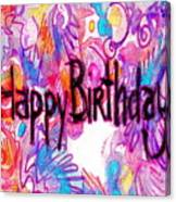 Happy Birthday Card Canvas Print