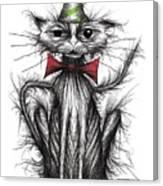 Happy Birthday Cat Canvas Print