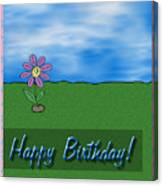 Happy Birthday Greeting Card Canvas Print