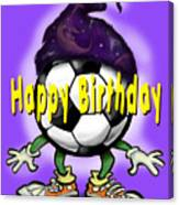 Happy Birthday Soccer Wizard Canvas Print