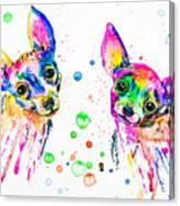 Happy Chihuahuas Canvas Print