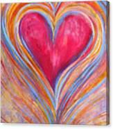 Happy Dancing Heart Canvas Print