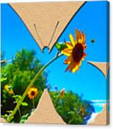 Happy Day Greeting Card Canvas Print