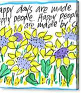 Happy Days W Blue Canvas Print
