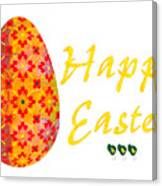 Happy Easter Abstract Greeting Card Art By Omaste Witkowski  Canvas Print