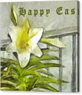 Happy Easter Lily Canvas Print