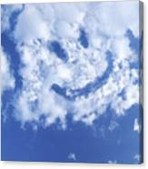 Happy Face Sky Canvas Print