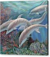 Happy Family - Dolphins Are Awesome Canvas Print