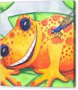 Happy Frog Canvas Print