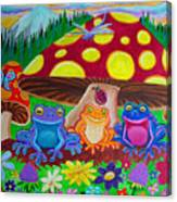 Happy Frog Meadows Canvas Print