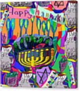 Happy Hannuka Canvas Print