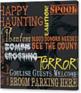Happy Haunting Typography Canvas Print