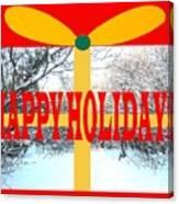 Happy Holidays 21 Canvas Print