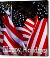 Happy Holidays Flag 1 Canvas Print