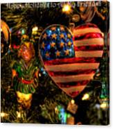 Happy Holidays To All My Faa Friends Canvas Print