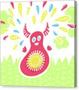Happy Jumping Creature Canvas Print