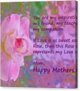 Happy Mothers Day 2 Canvas Print