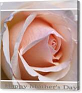 Happy Mother's Day Soft Rose Canvas Print