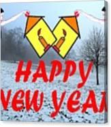 Happy New Year 24 Canvas Print