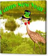 Happy New Year Card Canvas Print