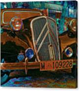 Happy Old Citroen Canvas Print