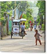 Happy Philippine Street Scene Canvas Print