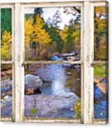 Happy Place Picture Window Frame Photo Fine Art Canvas Print