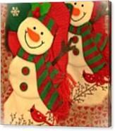 Happy Snowmen Canvas Print