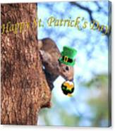 Happy St. Pat's Day Card Canvas Print