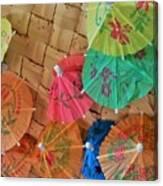 Happy Umbrellas Canvas Print