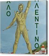 Happy Valentine Greek Colossus Canvas Print